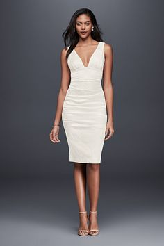 A figure flaunting little white dress 2ef0f10f8