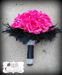 Hot Pink And Black Wedding Decorations | Euhappy Wedding
