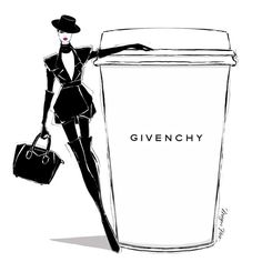 "Megan Hess on Instagram: ""It's MONDAY!!! Yaaaaaaayyyyyyyy!..... Not convinced? All you need is a REALLY STRONG cup of GIVENCHY coffee and you'll be fine. @givenchyofficial"""