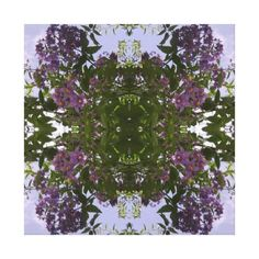 Mauve Tree Flower Fractal Summer 2016 Canvas Small Stretched Canvas Prints