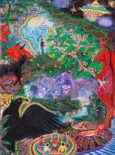 Yana Huaman Painting - Pablo Amaringo