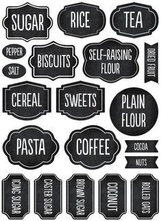 Free Printable Pantry Labels - Pantry Oganization Labels | Pinterest ...