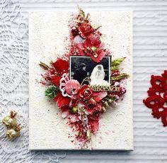 Московский Скрап Клуб: Вдохновение с приглашенным дизайнером - Ольгой Заикиной Altered Canvas, Altered Art, Mixed Media Canvas, Mixed Media Art, Mix Media, Christmas Wreaths, Floral Wreath, Canvas Art, Paper Crafts