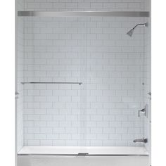 Kohler Revel 59 625 In W X 62 In H Frameless Bathtub Door