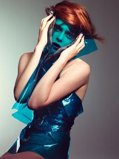 Blue Plastic - Coco Rocha photographed by Craig McDean for W Magazine October 2006