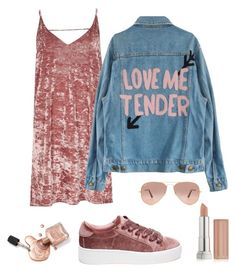 """""""All over pink"""" by gouldxobrien on Polyvore featuring moda, River Island, Steve Madden, Ray-Ban i Maybelline"""