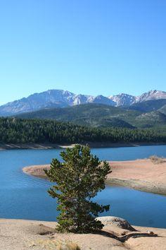 Crystal Reservoir & Pike's Peak.