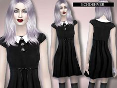 Vampire Doll Dress by Echoehver at TSR • Sims 4 Updates