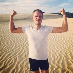 When you've smashed your workout and feel strong as...  #pumped workout #progress #letsgo #motivation #ironman #ironman17 #training #sanddunes #newzealand #travel #travelling #sandrun #strength #trainhard #trilife #worldwide #greatviews #seetheworld #wanderlust