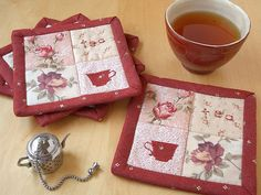 https://flic.kr/p/5aMWrP | Shabby Chic Rose coasters | Blogged