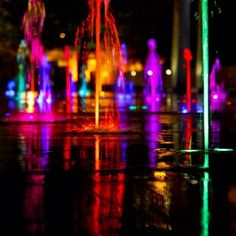 #Citygarden #fountain #STL #downtown #STLparks #Colors #DowntownSTL #StLouis