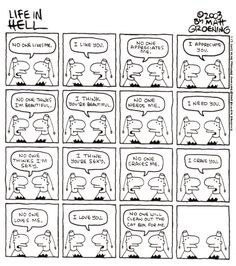 A Tribute to Matt Groening's Life in Hell, with Comics by