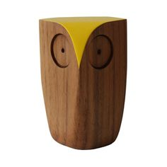 Yellow Wooden Owl Camden Passage, Wooden Owl, Animal Magic, Lifestyle Store, Crafty Craft, Halloween Decorations, Home Accessories, Owls, Yellow
