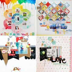 Our Design Team has been hard at work creating layouts for the gallery and today is the reveal! Here are thumbnails of some of the new layouts/cards/projects you can find in the Layout Gallery on our blog! #americancrafts