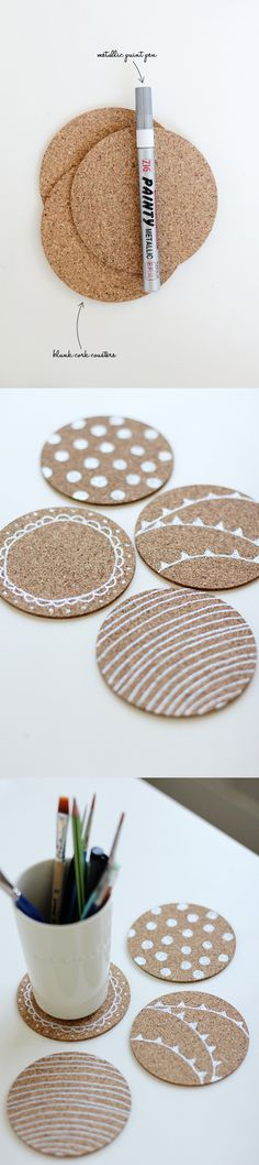 DIY cute custom coasters