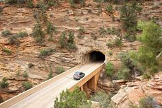 When it was completed in the Zion Mount Carmel tunnel at Zion National Park in Utah was the longest of its kind in the country. Zion National Park, National Parks, Brighton Ski, Visit Utah, Antelope Island, Mount Carmel, Memorial Park, Forest Service, Places To Go