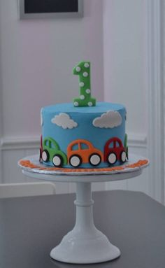 car cake, little cars cake, smash cake. little boy cake, first birthday cake, birthday cake car cake Birthday Cake Kids Boys, Baby Birthday Cakes, Women Birthday, Birthday Ideas, Car Cakes For Boys, Little Boy Cakes, Cake Smash, Fondant Baby, Cake Fondant