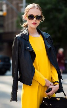 Pairing of black and yellow...this combination never looked so GLAM! I'm loving it in fashion...
