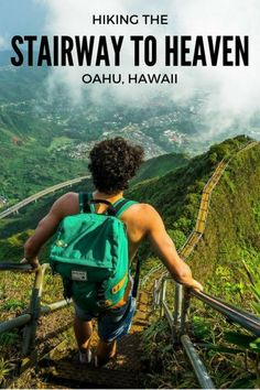 At 3am we slipped past the guard and began to climb The Stairway To Heaven Oahu, Hawaii. It is one of the wonders of the world and my favorite hike on Oahu!