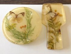 vintage resin/lucite spoon rest and trivet with by brolliarfound, $15.00