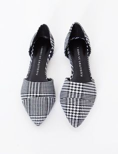 Pixie Market Hounds tooth pointy flats