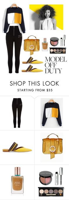 """""""untitled"""" by katyflorens ❤ liked on Polyvore featuring River Island, Malone Souliers, Paul Mitchell, Estée Lauder and Bobbi Brown Cosmetics"""