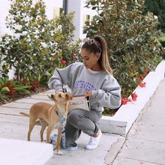 """Ariana Grande on Instagram: """"Ari x Prince of @Coach x cute @Coach clutch (for carrying Toulouse's royal treats / poop bags) """""""