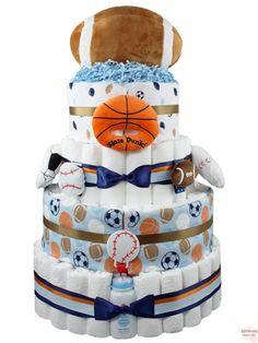 All Sport Diaper Cake