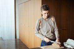 Cool sweater! Freunde von Freunden — Karen & Christian Boros — Art Collector, Manager and Agency Owner, Penthouse, Berlin-Mitte