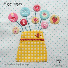 Are you sewing along with the Splendid Sampler being hosted by Pat A Sloan and Jane Shallala Davidson Quiltjane ? The 4th block was just released by Designer Jen Kingwell Designs , and it is darling! But don't let the applique circles scare you! Charise of Charise Creates is sharing a great tutorial for appliqued circles on her blog! To see the full tutorial, please visit http://charisecreates.blogspot.com/2016/02/the-splendid-sampler-happy-happy-circle.html