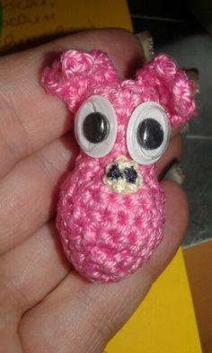 pig Crochet Animals, Mini, Crocheted Animals