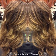 Blonde, Balayage, Ombre, Hair Painting, Color Melt, Highlight, Low Light, Curls, Beach Waves, Brunette, Carmel, Natural, Sun kissed