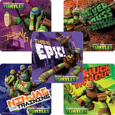 15 Teenage Mutant Ninja Turtles Stickers Party Favors Teacher Supply TMNT | eBay