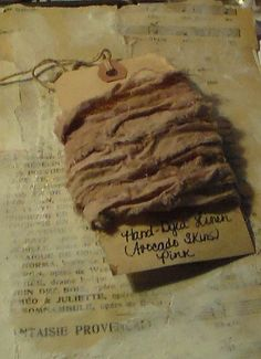 Naturally Hand Dyed Crinkled Linen by CherylStrait on Etsy, $5.98
