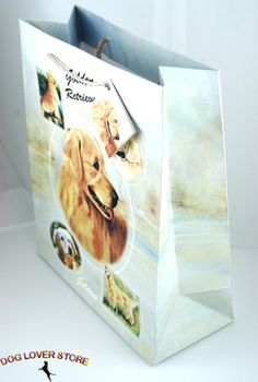 Golden Retriever Dog Gift Present Bag