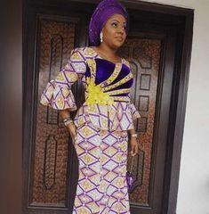 Ankara Skirt And Blouse Styles For Young Ladies: 25 Ankara Skirt And Blouse Styles For Fashion Ladies African Lace Dresses, African Blouses, African Dresses For Women, African Attire, African Wear, African Style, African Fashion Designers, African Fashion Ankara, Ghanaian Fashion