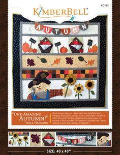 One Amazing Autumn Wall Hanging Pattern by Kimberbell Designs at TCSFabrics.com #SewingPattern #QuiltingPattern #WallHangingPattern #OneAmazingAutumn #SeasonalDecor #FallWallHanging #AutumnDecor #AutumnWallHanging
