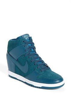 Nike 'Dunk Sky Hi' Wedge Sneaker (Women) available at Nike Heels, Nike Wedges, Nike Outfits, Sneakers Fashion, Fashion Shoes, Women's Fashion, Nike Hi Tops, Nike Sky Hi, Nike Spandex