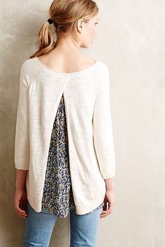 French Quarter Pullover - anthropologie.com. This looks just like Leksak Lady pattern on Rav -- only worn front to back.