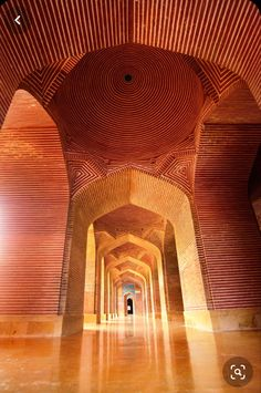 Islamic Architecture, Beautiful Architecture, Art And Architecture, Shah Jahan Mosque, Dome Ceiling, Brick Interior, Village Photos, Portal, Sea Waves