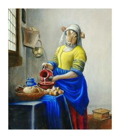 Kitchen Maid, Milk The Cow, Johannes Vermeer, Blue Apron, Dutch Artists, Picture Show, Oil On Canvas, Fine Art, Pictures