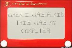 When I Was A Kid, This Was My Computer! LOL