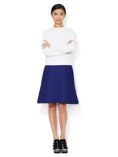 Felted Wool Structured A-Line Skirt
