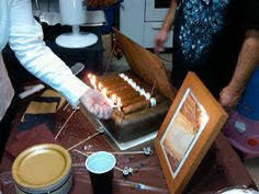 cigar cake - Google Search- Light cigars as candles!**