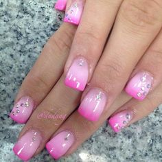 Pink faded nails