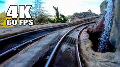 4K 60FPS Matterhorn Roller Coaster Front Seat POV Disneyland California