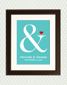 WEDDING GIFT - Symbol for an engagement gift, wedding gift or anniversary gift, for a boyfriend, husband, wife, bride and groom. $24.00, via Etsy.