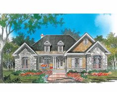 Eplans French Country House Plan - Ornate Stylings - 1983 Square Feet and 3 Bedrooms from Eplans - House Plan Code HWEPL08388