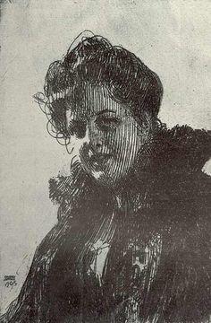 Ander Zorn (1860-1920) Swedish Artist. Intaglio Etching. untitled. 1905