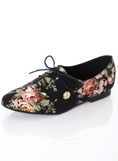 JIVE black floral canvas lace up oxfords. This is adorable take on menswear!